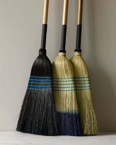 An Artful Sweep: Display-Worthy Household Brooms - Remodelista Wabi Sabi, Brooms And Brushes, Objet Deco Design, Whisk Broom, Broom Holder, Handmade Kitchens, Wooden Handles, Bali, Household
