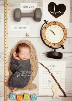 Photo idea ; date time weight length