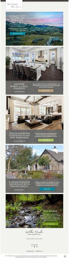 New Homes for Sale in Orinda, California  LIVE A BEAUTIFUL LIFE  Luxury Homes + Homesites in the Bay Area  |  Art + Garden Center Opening Summer 2018  |  Orinda has some of the highest ranked schools in the nation  |   Come See Homes by Davidon Homes & Taylor Morrison   |  Build your Custom Dream Home on Brooks Street  |  Trails at Wilder... Steps from your Front Door  |  1,300 Acres of Protected, Natural Open Space  http://orindawilder.com/
