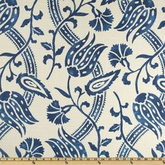 Houzz 20 Blue and White Fabrics Perfect for a Cottage / Mediterranean Fabric by Fabric.com