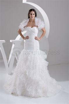 Robe de mariée la plus belle en Satin Sirène Sans bretelles  http://fr.GracefulDress.com/Robe-de-mariée-la-plus-belle-en-Satin-Sirène-Sans-bretelles-p20928.html