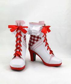 [leggycozy] Kawaii Anime Love Live Maki Nishikino Cosplay Heeled Boot Shoes Heels Boots, Heeled Boots, Kawaii Shoes, Cosplay Boots, Lolita, Maki Nishikino, Sport Girl, Custom Shoes, Costume Accessories