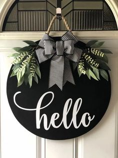 to share the latest addition to my shop: Round Door Hanger, Door H. -Excited to share the latest addition to my shop: Round Door Hanger, Door H. - Welcome Door Sign Welcome Door Hanger Front Door Decor Diy Christmas Decorations, Christmas Crafts, Holiday Decor, Fall Door Decorations For Home, Door Hanging Decorations, Xmas, Home Crafts, Diy Home Decor, Diy And Crafts