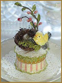"""Spring Nest"" Favor Box"