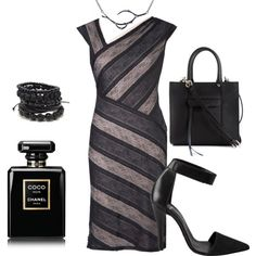 In black by yam-oba on Polyvore featuring Chesca, Pieces, Rebecca Minkoff and Chanel