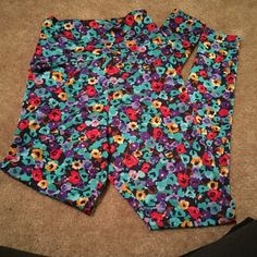Multicolor floral high waist leggings Multicolor floral leggings American Apparel Pants Leggings