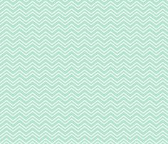 chevron no2 mint green and white fabric by misstiina on Spoonflower - custom fabric