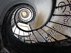 Inside of abandoned lighthouse  Marvila, Portugal