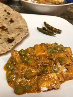 No onion-garlic Matar Paneer Masala - Wealth of Food Jain Recipes, Paneer Recipes, Garlic Recipes, Veg Recipes, Curry Recipes, Vegetarian Recipes, Cooking Recipes, Appetiser Recipes, Navratri Recipes