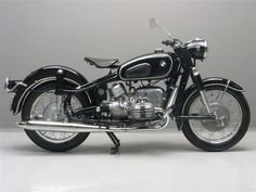 1956 BMW R50. Dig the vintage look on those fenders and seat.