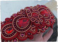 "Пояс сутажный""Рубин"". Handmade."