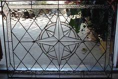 Compass rose Stained Glass Window Panel We do by ArtGlassWindows