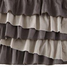 Grey Ruffle Crib Skirt #TheLandOfNod #ZeldaNursery #Nursery