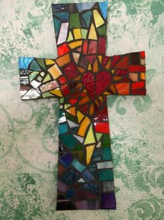 Mosaic cross, by Kathy J. Monti