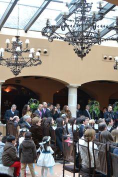 Y su encuentro con Manuel. #boda #ceremonia