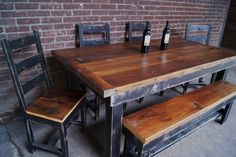 FarmhouseTable SET / Farmhouse Table / Farm House by FurnitureFarm, $1,794.00