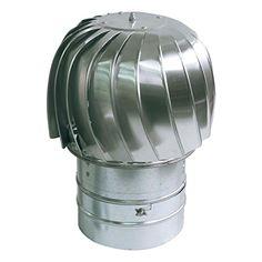 Standard Spinning Chimney Cowl Spinner Aluminum Downdraug...