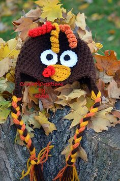 Have to do this for the holiday!  Ravelry: Turkey Beanie Pattern pattern by Stephenie Hickok