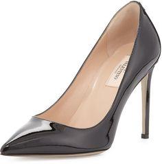 Valentino Patent Point-Toe Pump, Black on shopstyle.com