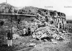 Fotografias antiguas de Navarra. Murallas de Pamplona. Fotografía de Aquilino García Deán. 1915.