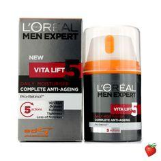 L'Oreal Men Expert Vita Lift 5 Daily Moisturiser 50ml/1.7oz #LOreal #MensSkincare #FREEShipping #StrawberryNET #HotPick