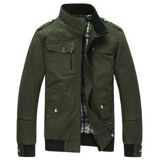 Men's Casual Stand Collar Jacket for $ 0.40 at KenKay Apparel