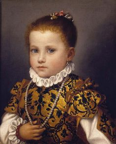 Portrait of a Little Girl of the Redetti Family, by Giovanni Battista Moroni (before 1524–1578), ca 1570.