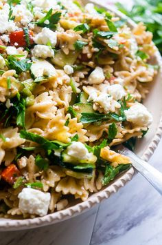 Lemon Balsamic Summer Pasta Salad. A light and fresh mix of pasta and your favorite veggies. Perfect for summer bbq's and picnics!