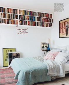 Amy Larocca and Will Frears, Decorating for Your 30s, Domino, great spot for book collection, casual master bedroom