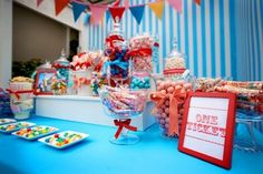 primary colors candy station bar...not just for kids :)