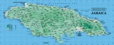 Jamaica Map from Caribbean-On-Line