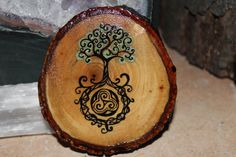 Tree of Life with Celtic Triskele Roots by FairyFresh on Etsy