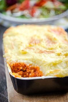 Wiejska zapiekanka z ziemniakami Polish Recipes, Lasagna, Mashed Potatoes, Macaroni And Cheese, Food And Drink, Menu, Dinner, Cooking, Ethnic Recipes