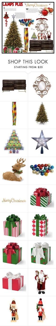 """""""Lamps Plus Christmas"""" by jeneric2015 ❤ liked on Polyvore featuring interior, interiors, interior design, home, home decor, interior decorating, Howard Elliott, Eangee, Santa's Workshop and Kurt Adler"""