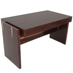 Rosewood and Glass Desk by Joaquim Tenreiro 1