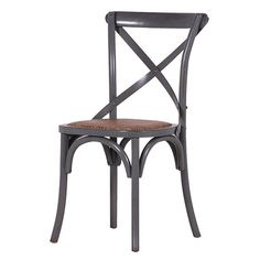 HICKS and HICKS Pair of Grey Cross Back Dining Chair - Hicks