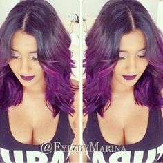 Try a beautiful ombre like this for you ladies with shorter length!