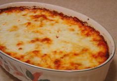 Baked Spaghetti from food.com (user mandalee65). 9 Weight Watchers Points Plus per serving.