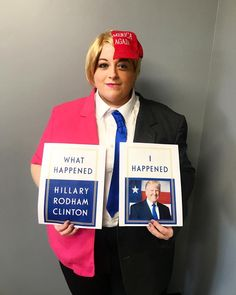 Happy Halloween from President Trump and Hillary Clinton https://i.redd.it/7vwnhw3988vz.jpg
