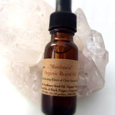 Manliness Beard Oil / Organic Facial Hair by CrystalSensation