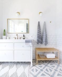 Light & bright   #bathroomdecor #bathroom #renovations #simpledesign #gold #white #tiles #home #decor #interiordesign
