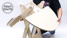 woodworking folding table idea! / kinetic table / scissor table legs / mechanism - YouTube Folding Workbench, Folding Furniture, Woodworking As A Hobby, Table Legs, Carpentry, Youtube, Coffee, Home Decor, Nerd Decor