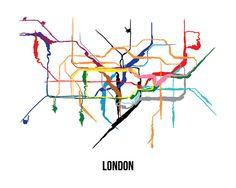 london tube underground train map wall art by creativeoaf on etsy