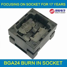 BGA24 Burn in Socket IC size 6*8 mm/BGA24 IC Test Socket /BGA24 Adapter Pin Arrays 6*8mm