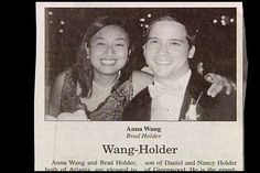 Mr. & Mrs. Wang-Holder. | 15 Wedding Announcements From Couples With Deeply Unfortunate Names