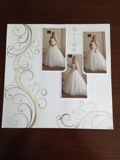 Wedding layout from my wedding scrapbook!