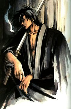 male Samurai Art | TJ's world of anime and art .....