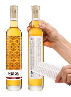 Just too brilliant!!  Neige Ice Cider Packagings by Chez Valois , via Behance