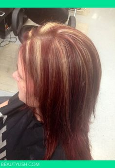 suttle red and blonde highlights | red hair and blonde highlights | Alexis W.'s Photo | Beautylish