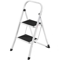 3 Tier Step Stool Folding Ladder Premium Rubber Wood Construction Multifunctional Design Used As Flowers Rack Shoe Bench Home Kitchen Bathroom Office Space Saving Furniture 350LBS Weight Capacity